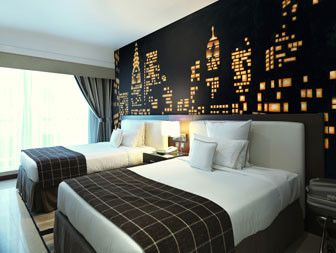 Stock cityscape photo wall mural/wallpaper.