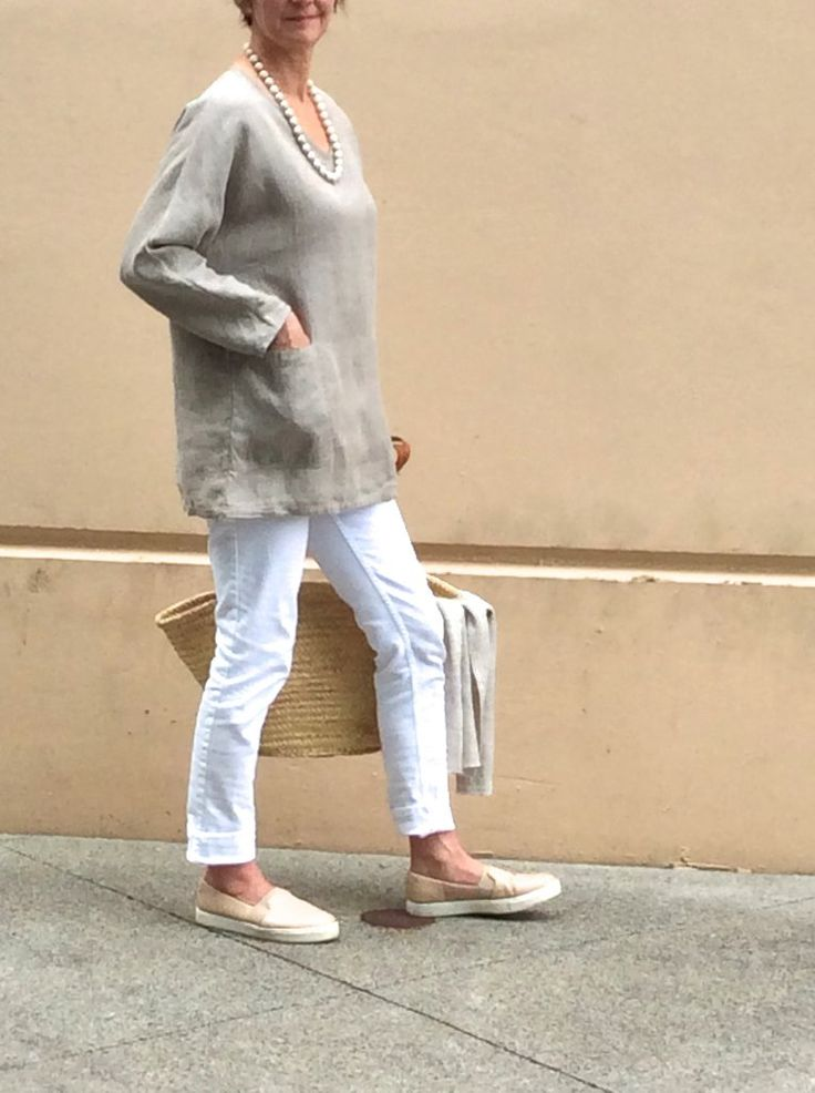 Tunic  'Chloe'  Natural | 100% Linen - Made in Canada