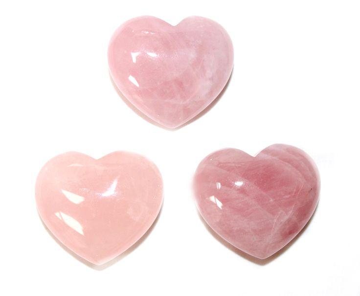 Rose Quartz Heart 1pc
