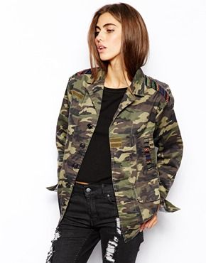 Glamorous Camo Jacket with Tapestry BARGAIN!! ON SALE NOW was £60 now £18