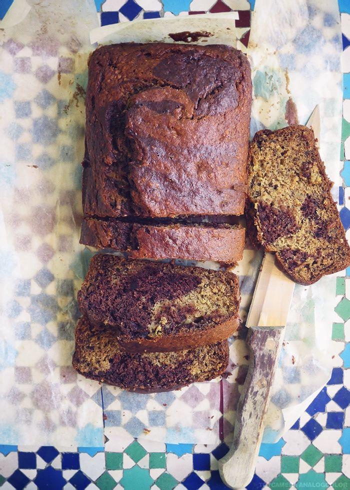 Cake Banane, Cannella e Cacao con olio d'oliva e miele