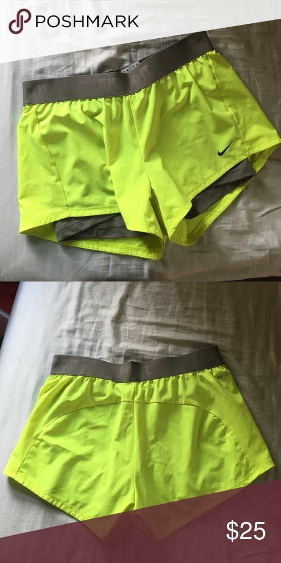 NIKE DRI-FIT Compression Shorts!!! Light use, great shorts. They have compression shorts connected inside. Nike Shorts