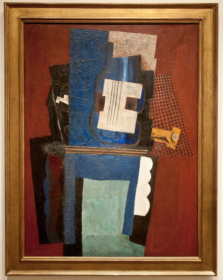 Pablo Picasso. Spanish, 1881-1973 Guitar and Clarinet on a Mantlepiece, 1915 Oil on canvas Bequest of Florence M. Schoenborn, 1995 1996.403.3
