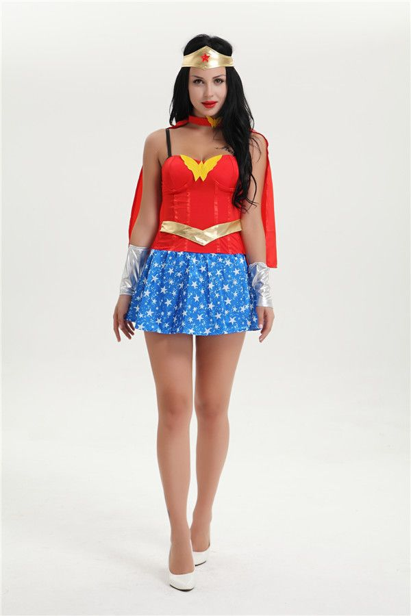>> Click to Buy << Free Shipping Wonder Women New Fancy Dress Costume Sexy Ladies Womens 8663 S-3XL PLUS SIZE SUPERHERO COSTUME INSTYLES #Affiliate