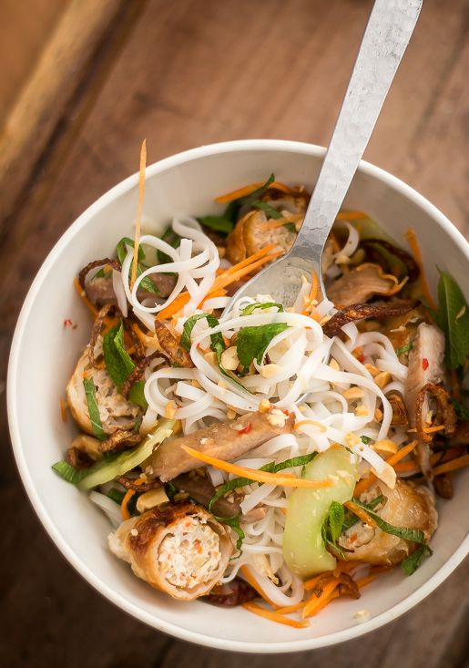 Vietnamese Rice Noodle Salad (I've made this two nights in a row. Really good.) davidlebovitz.com