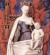 Virgin and Child Surrounded by Angels c. 1450  by Jean Fouquet