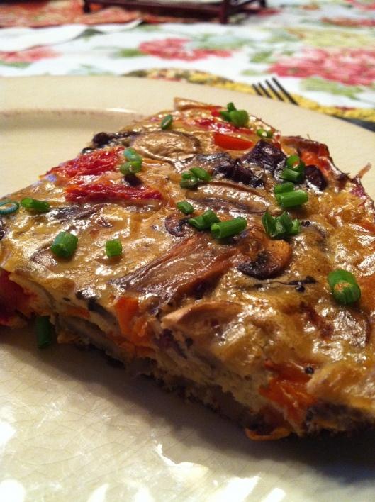 Rosso Frittata! Gluten Free, Dairy Free, Maker's Diet! yum! glutenfreehappytummy