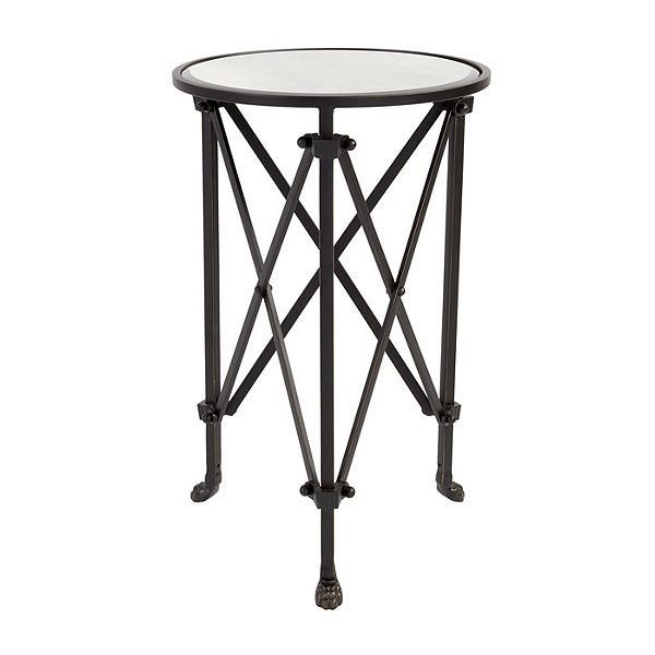 Ballard Designs Olivia Mirrored Side Table (11.475 RUB) ❤ liked on Polyvore featuring home, furniture, tables, accent tables, mirrored end table, mirrored accent table, mirrored table, mirrored glass furniture and eglomise furniture