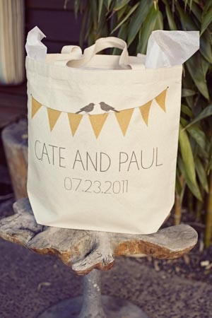 Reusable bag wedding favour! Love it!!