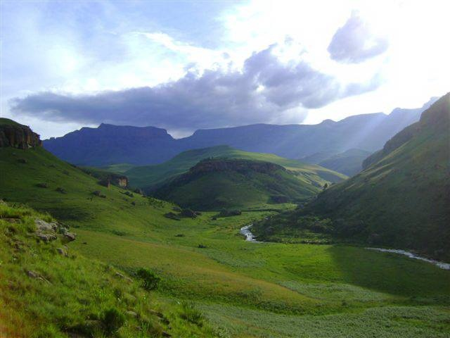 Giant's Castle African Drakensberg in KwaZulu Natal by Skinny Young Campbell