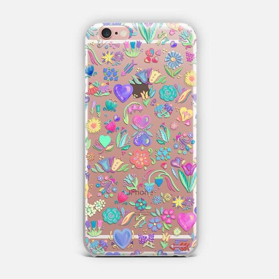 This trendy phone case features a pretty brightly colored floral and hearts pattern with a transparent background. AVAILABLE DEVICE SIZES: iPhone 7 Plus iPhone 7 iPhone SE iPhone 6S Plus iPhone 6S iPhone 6 Plus iPhone 6 iPhone 5/5S iPhone 5C iPhone 4/4S Samsung Galaxy 7 Samsung Galaxy 7 Edge Samsung Galaxy 6 Samsung Galaxy 6 Edge Samsung Galaxy 5 Samsung Galaxy Note 7 Samsung Galaxy Note 5 Samsung Galaxy Note 4 Samsung Galaxy Note 3  TRANSPARENT CASE FEATURES: These transparent, slim cases…