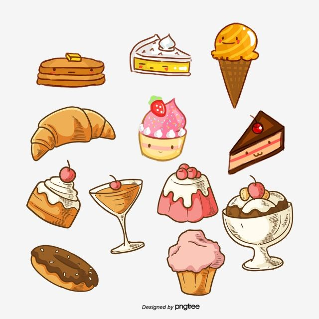 Dessert Vector Stickers Dessert Clipart Cake Label Gourmet Food Png Transparent Clipart Image And Psd File For Free Download Cute Food Drawings Cute Food Art Sweet Drawings