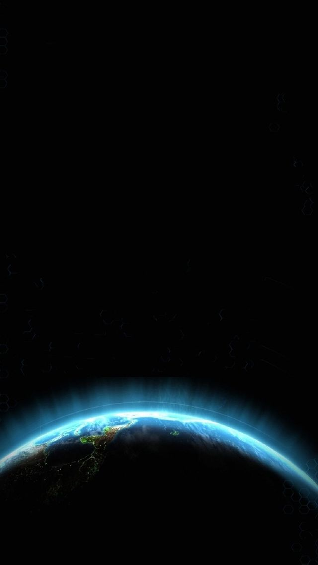 Space Circle Blue Light #iPhone #5s #Wallpaper