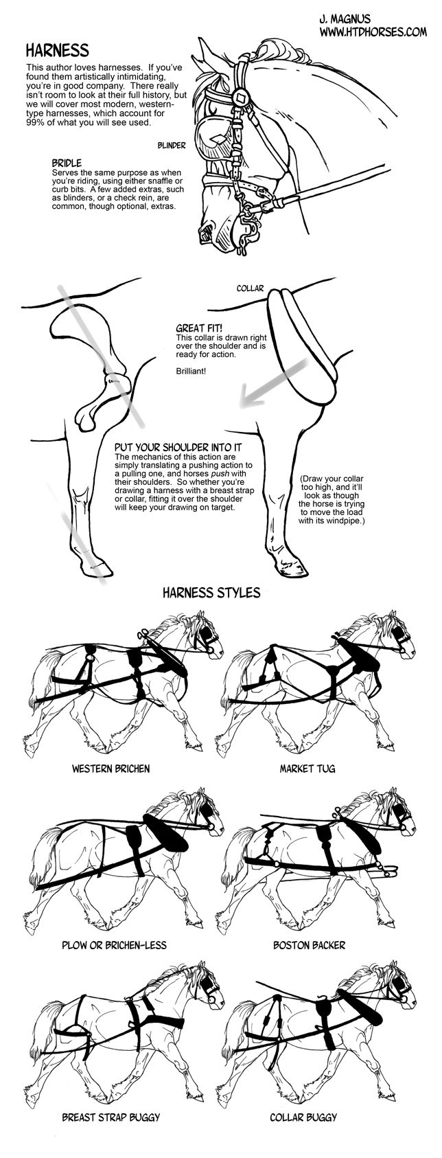 How to draw tack Harness by sketcherjak.deviantart.com on