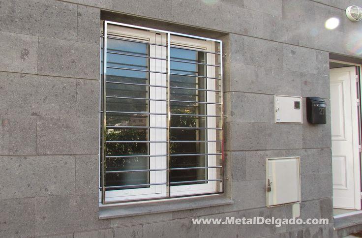 Reja de seguridad en acero Inoxidable. Diseño y fabricación Metal Delgado