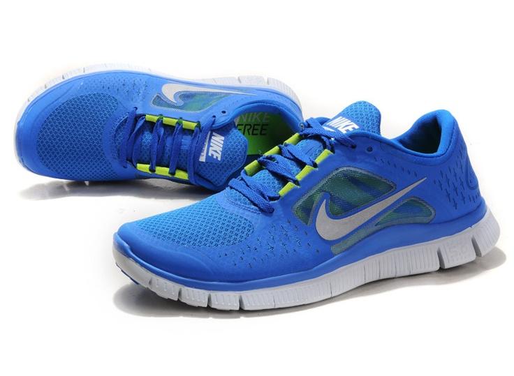 factory authentic 94bb1 1308f ... Cheap Womens Nike Free Run 3 blue silver