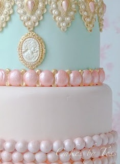 For more #pastel wedding ideas ... http://pinterest.com/groomsandbrides/pastel-wedding-group-board/ ... Marie Antoinette Cake!!