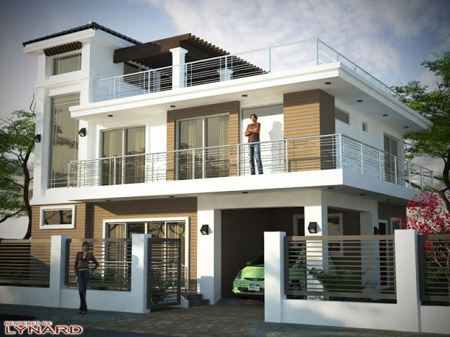 More Than 80 Pictures Of Beautiful Houses With Roof Deck Bahay Ofw 2 Storey House Design 3 Storey House Design Two Storey House