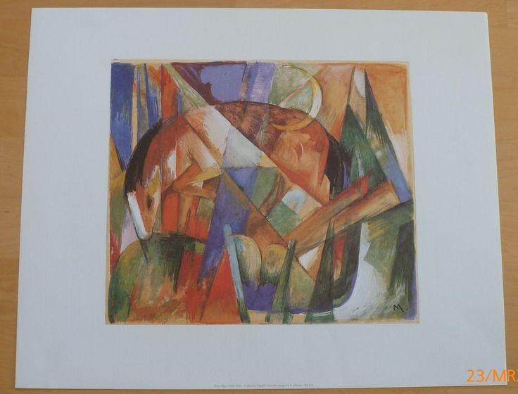 FRANZ MARC * Fabelhaftes Tier II * Poster Kunstdruck Art Print 50 X 40 cm