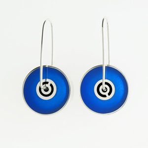 Spinner Earrings by Victoria Varga: Silver & Resin Earrings available at www.artfulhome.com