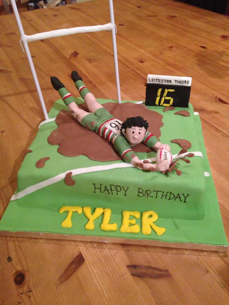 Leicester Tigers Rugby Cake 1