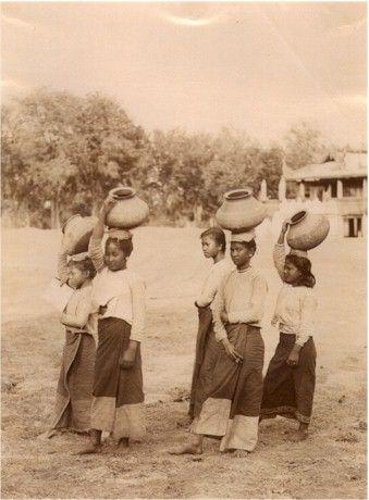 Burmese water girls.