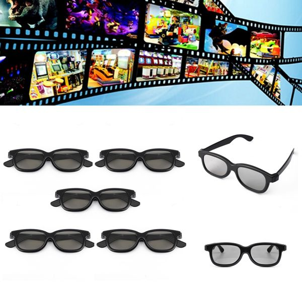 Brand new 5 Pairs Passive 3D Polarized Lens Glasses For Samsung TVs Monitor 3d Television