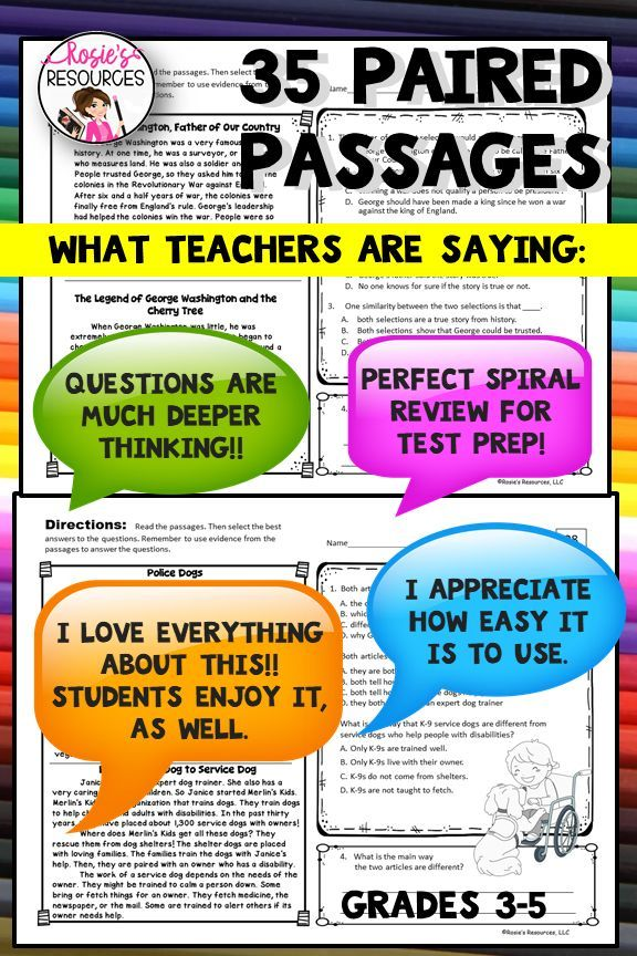 Paired Passages Paired Texts Fourth Grade Reading
