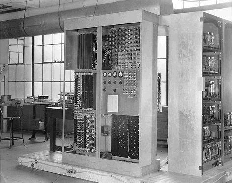the EDVAC computer, invented by John von Neumann, 1945