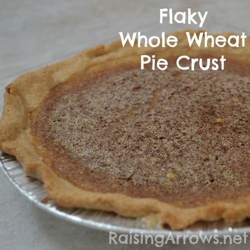 Wonderfully Flaky Whole Wheat Pie Crust (uses coconut oil & whole wheat pastry flour) | RaisingArrows.net