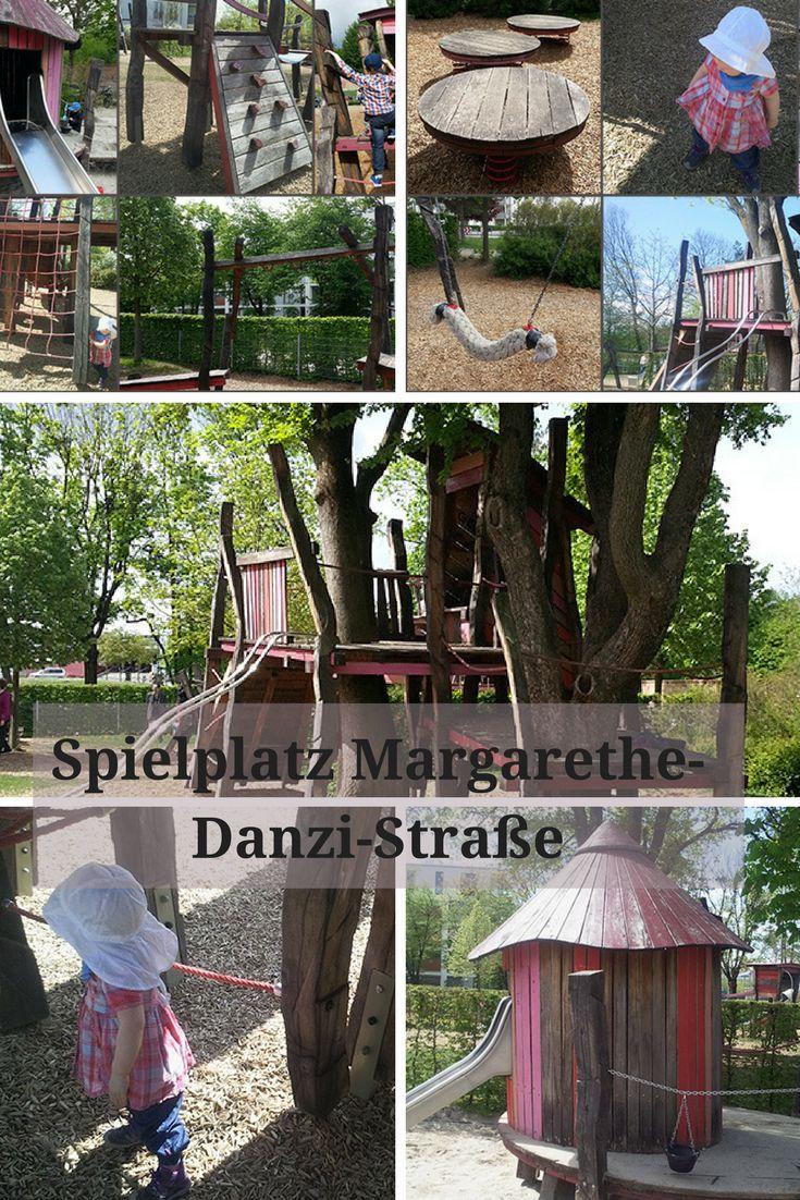 Den schönen Spielplatz in der Nähe der Margarethe-Danzi-Straße haben meine Frau und unsere Tochter auf dem Radweg zum Kinderturnen entdeckt. Und wir waren jetzt auch schon zu dritt einmal dort, und haben dabei weitere Fotos gemacht, um ihn noch ausführlicher für euch zu dokumentieren.