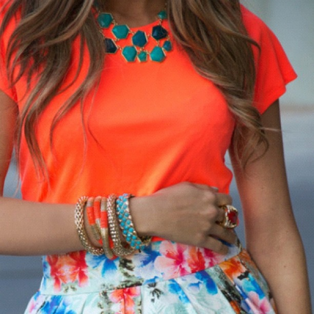 This is how your WORK the NEON trend. It's a very gossip girl kinda outfit. Love, love, love  - @yourfashionfix- #webstagram