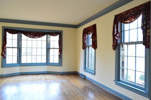 See first link to curtains she likes.  Perfect for our family room!    Curtain Call | Young House Love