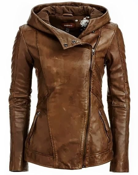 Adorable brown leather jacket for fall