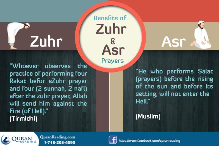 Benefits and Importance of Zuhr and Asr Prayers