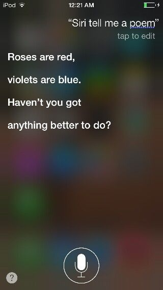 I asked Siri a bunch of pointless questions and I DON'T NEED YOUR SASS SIRI