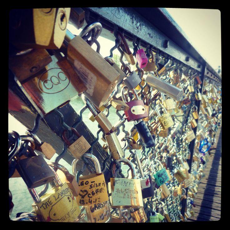 #padlock #bridge #paris #france