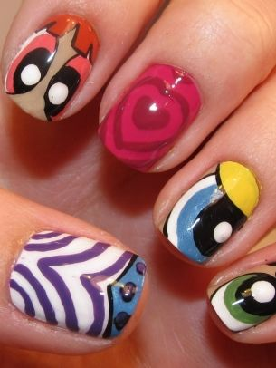 Funky Colorful Nail Art Ideas 2012 - Unleash your rebellious side and stand out from the crowd with your unique and catchy manicure design. These funky colorful nail art ideas 2012 will help you rise above the mass and add a youthful vibe to your look.