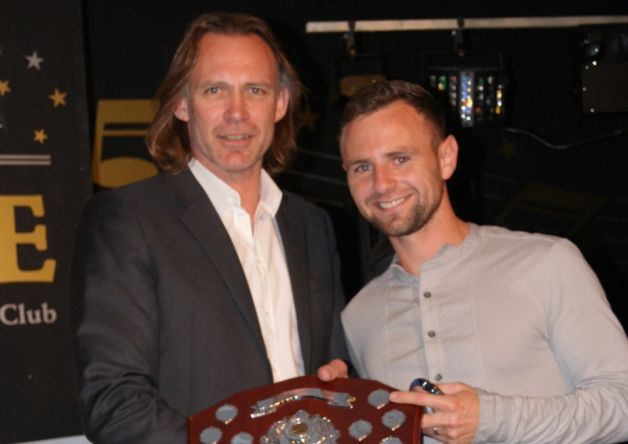 Garry Hunter cleaned up at Lancaster City's end of season presentation evening.