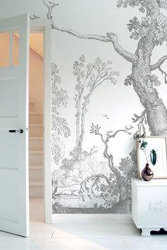 Engraved Landscapes #behang #wallpaper | KeK Amsterdam
