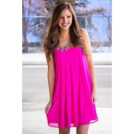 Ladies Choice Dress in Hot Pink