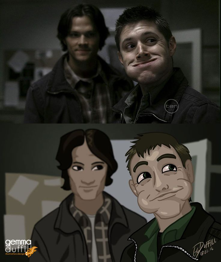 Supernatural Screencap redraw by GemmaDuffill.deviantart.com on @deviantART