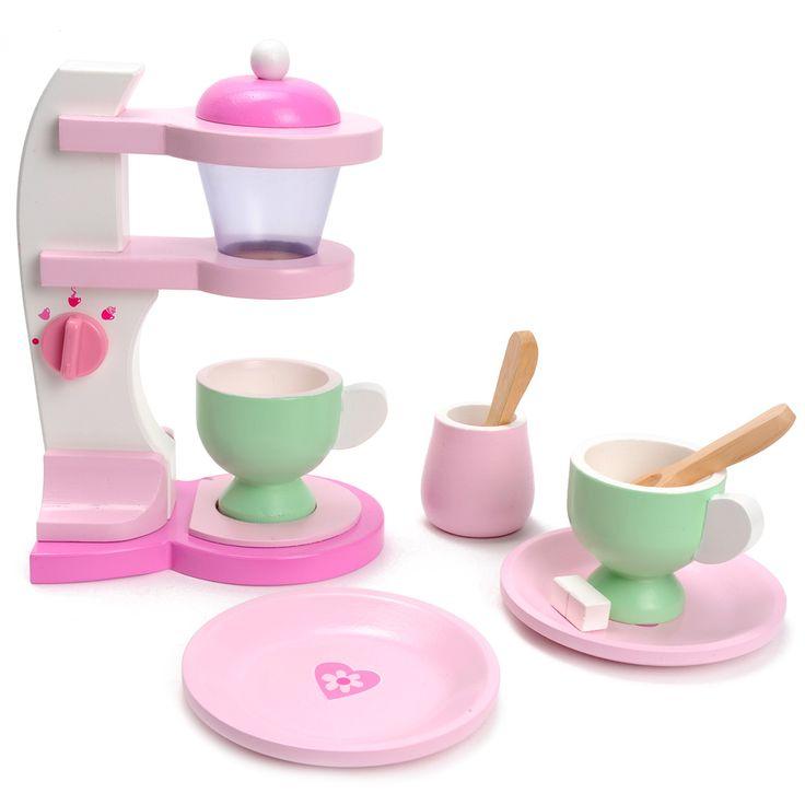 Zet de lekkerste koffie met deze mooie, houten koffiezetapparaat van Mentari. Geschikt voor kindjes vanaf 3 jaar. Te vinden bij Sassefras Meisjes Speelgoed voor écht peuter en kleuter speelgoed.