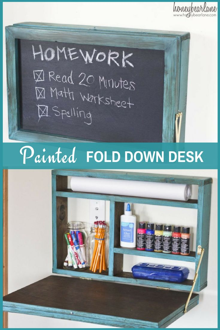 Help your child to be organized this coming school year with this DIY PAINTED FOLD DOWN DESK.
