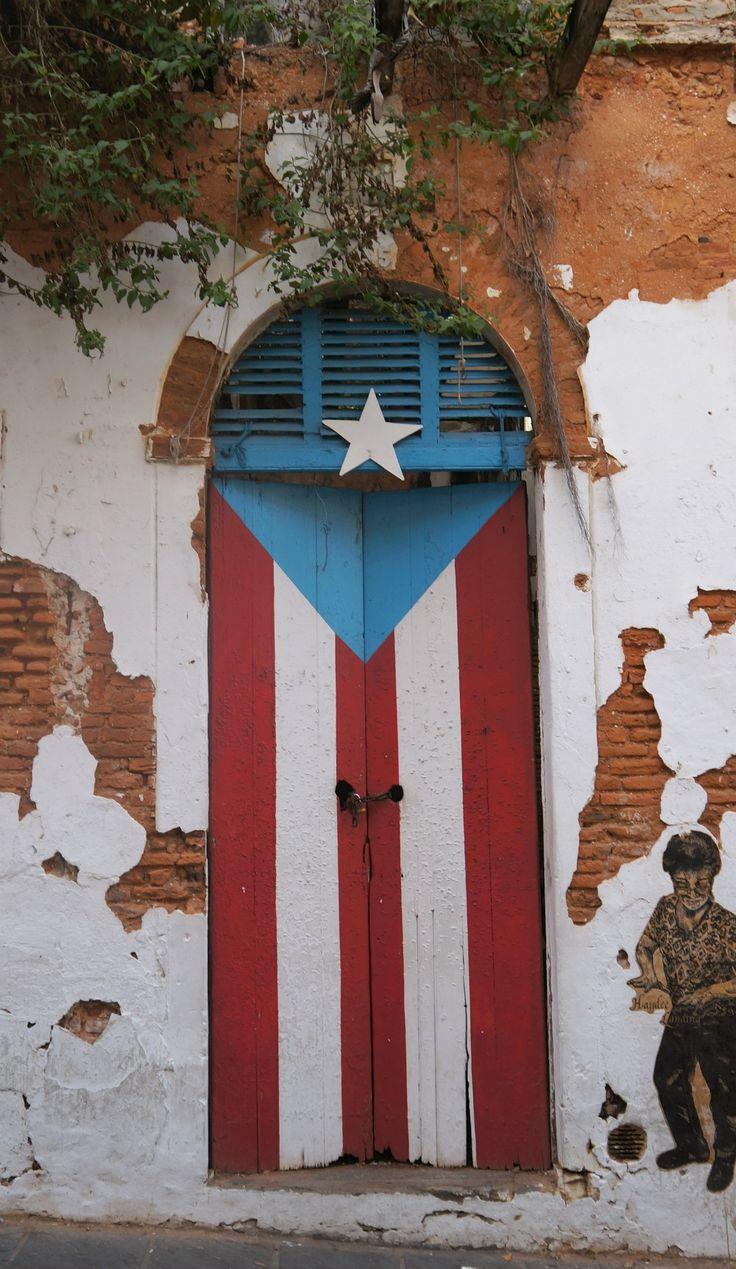 Puerto Rican Flag Door, Old San Juan