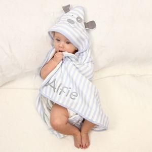 Personalised Hooded Patch Dog Baby Blanket - Give a Christening gift that shows they are truly cherished. Thoughtful and original, lots of the products can be personalised as they are created by talented independent designers or small creative businesses.