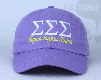 Sigma Sigma Sigma Baseball Cap Custom Color Hat by TheTurnipSeed