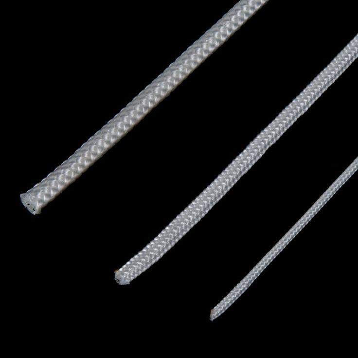 CORDÓN POLIÉSTER BLANCO GROSORES - Extensa gama de cordones de poliéster de color blanco de muchos grosores apropiados para todo tipo de aplicaciones: amarres, tendederos, toldos, manualidades, ...