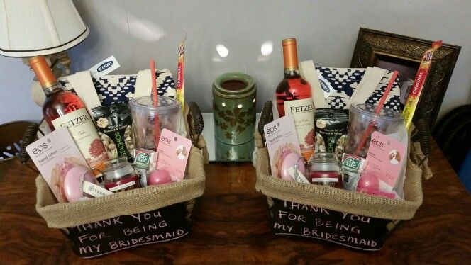 Bridesmaid gift basket