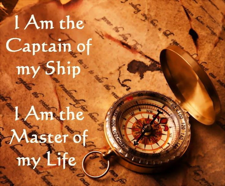 God Inspirational Quotes Wallpaper I Am The Captain Of My Ship I Am The Master Of My Fate